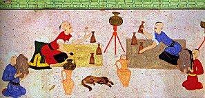 1582 Şenliğinde Hokkabazların Gösterimi (Prof. Metin And'ın izniyle yayımlanmıştır)